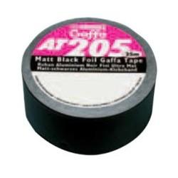 Advance AT205 50mmx25m Aluminium HT Zwart