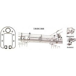 T60 GEKRUISDE GORDIJNRAIL VAN 11 M (2x6 m) COMPLEET