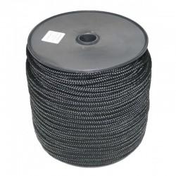 Drisse polyprop. noire préétirée/ 100M/ 8mm