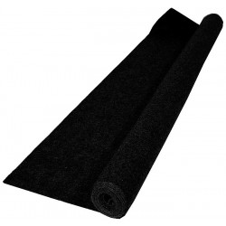 Rouleau de coton gratté noir densité de 140 gr / m²