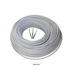 SILICONE hoge temperatuur 3x1,5mm²,   ZWART per meter