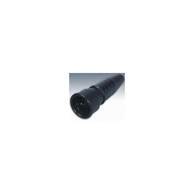KERAF schuko contrastekker, rubber  - 230 V