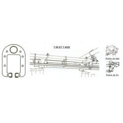 GEKRUISDE GORDIJNRAIL VAN 6 M (2x3,5 m) COMPLEET