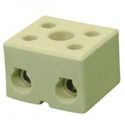 2 Polige porcelein domino ( Kroonsteentje )
