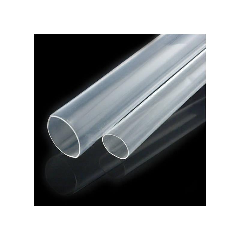 7 cm de gaîne thermo-rétractâble transparente en  9,5 / 19