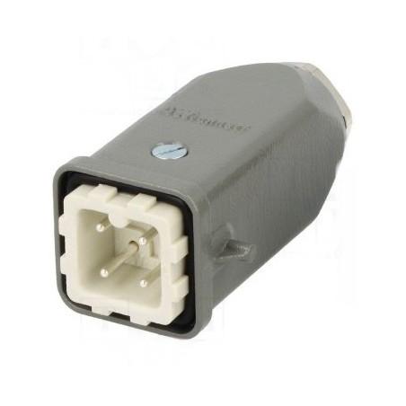 HARTING 3 + T contacts mâle câble + clips