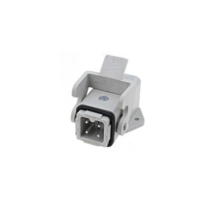 HARTING 3 + T contacts mâle chassis