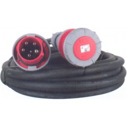 CABLE D' ALIMENTATION CAOUTCHOUC HO7 TRI 400 V / CEE 63 A en 5G16 mm² avec une longueur de: