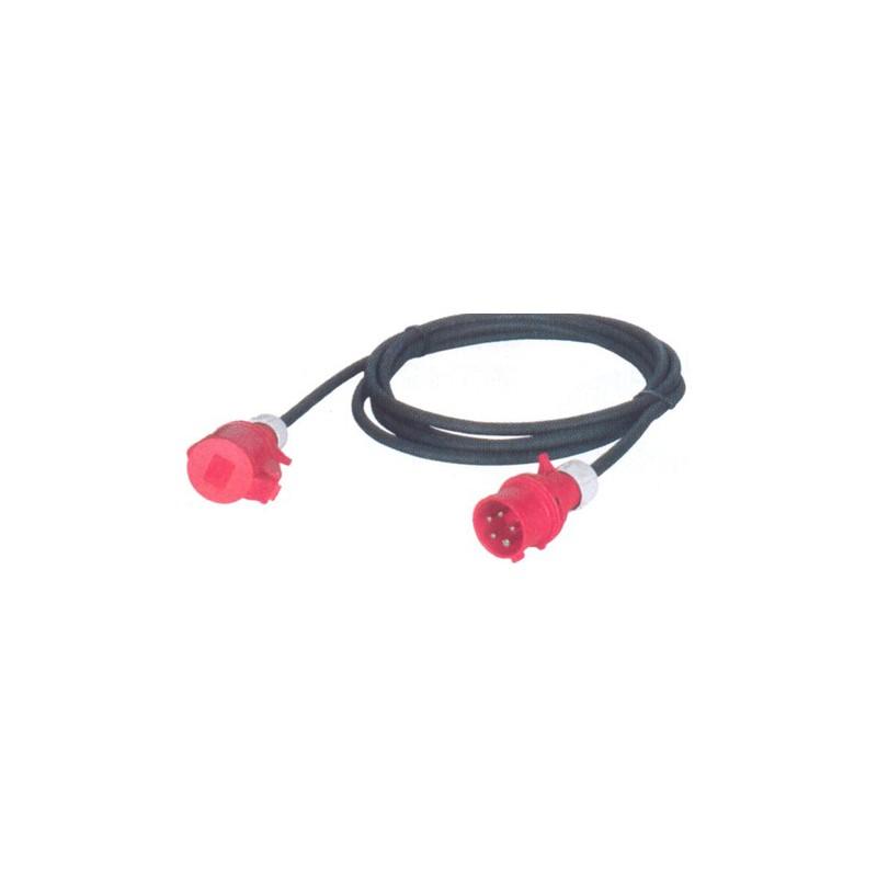 CABLE D' ALIMENTATION CAOUTCHOUC HO7 CEE TRI 400 V / 10 A/16 A en 5G2,5 mm² avec une longueur de: