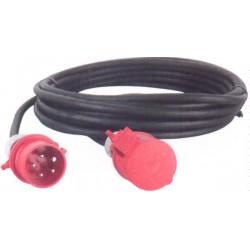 CABLE D' ALIMENTATION CAOUTCHOUC HO7 TRI 400 V / CEE 32 A en 5G6 mm² avec une longueur de:
