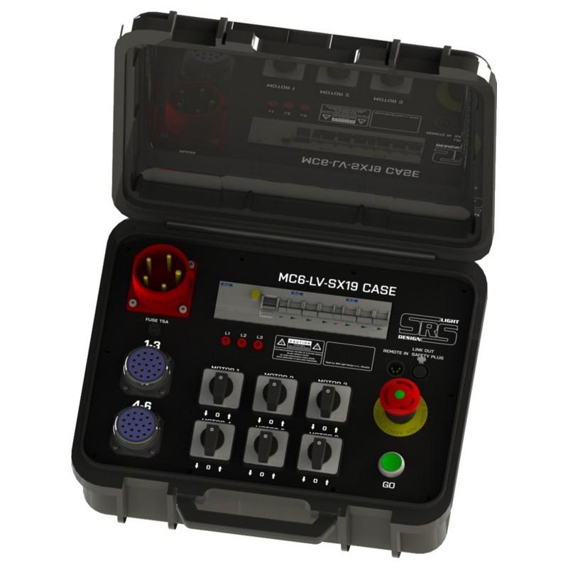 """Koffer voor 6 takels """"low voltage"""""""