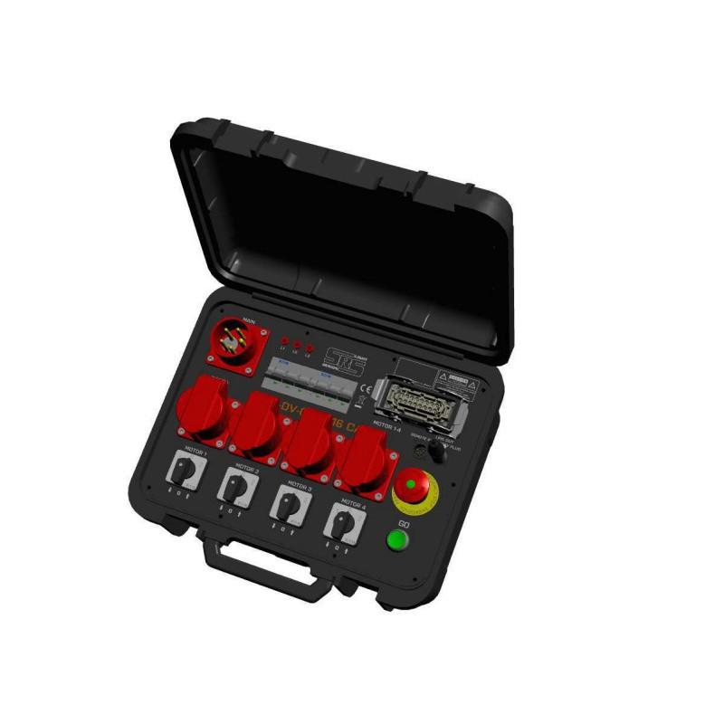 """Koffer voor 4 takels """"low voltage"""""""