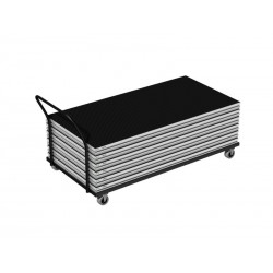 Transport trolley enables to carry up to 15 pcs of 2x1m VERSA 750 decks