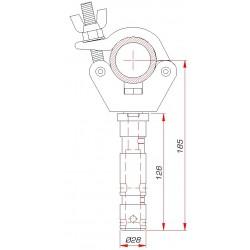 Demi-collier avec spigot 28 mm