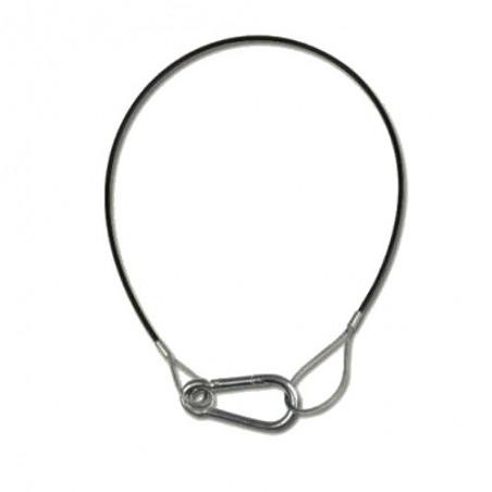Câble de sécurité de 3 mm / 60 cm noir