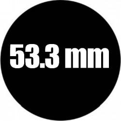 Steel Rosco Gobo Maat D  : Diameter 53.3 mm   Beeld 40 mm