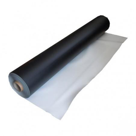Dansviniel zwart / wit 1,5m x 10M ( 15m² )
